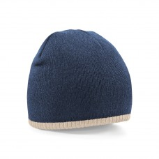 TWO-TONE KNITTED HAT 100%ACRIL