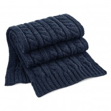 CABLE KNIT MELANGE SCARF100%A