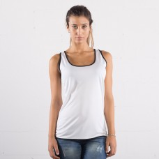 LADY TECH CONTRAST VEST 100%P