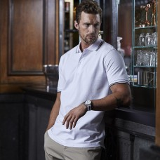 LUXURY STRIPE POLO 95%C 5%E