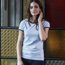 LADIES RINGER TEE 100%C